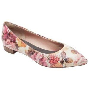 Rockport Adelyn Pointed Toe Flats Floral Pink 8